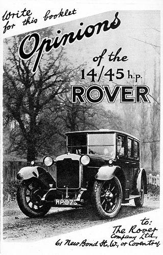 1925 Rover 14-45 adv