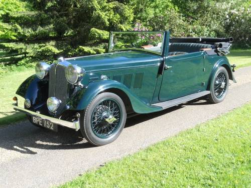 1933 Rover speed 14 was introduced in 1933 with a 6 cylinder high compression engine with triple SU carbs. Capable of over 80 MPH . A 4 speed synchro gearbox