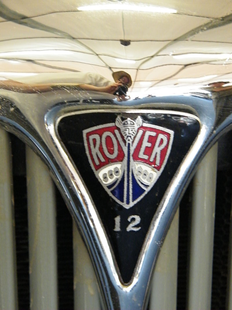 1934 Rover 12 sports bonnet badge (5625081813)