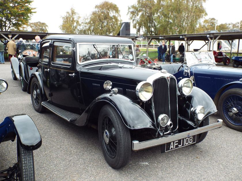 1934 Rover 12 sports saloon (DVLA) first registered 4 October 1934, 1400 cc
