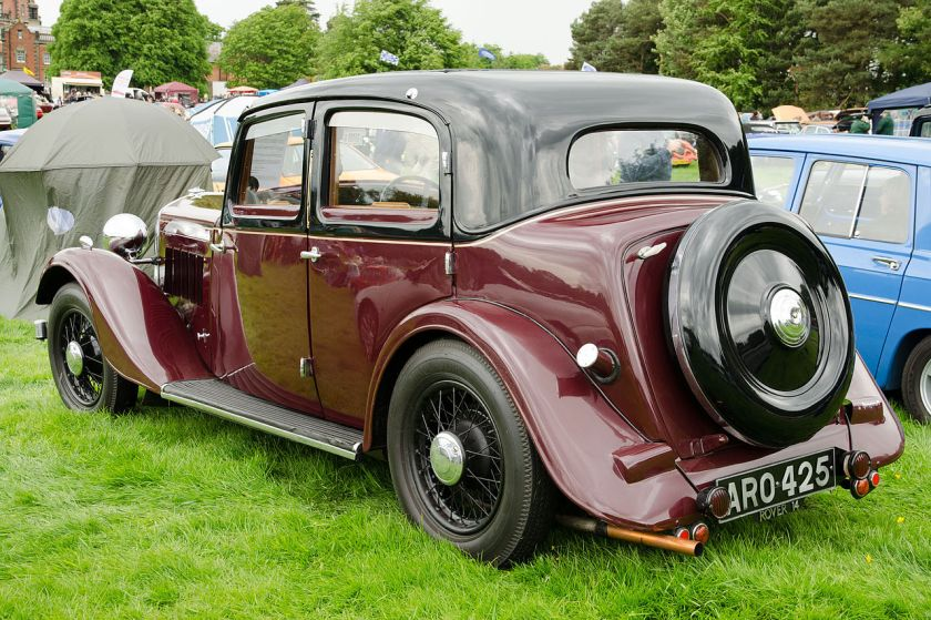 1935 Rover 14 Sports Saloon P1 with flush fitting sliding roof