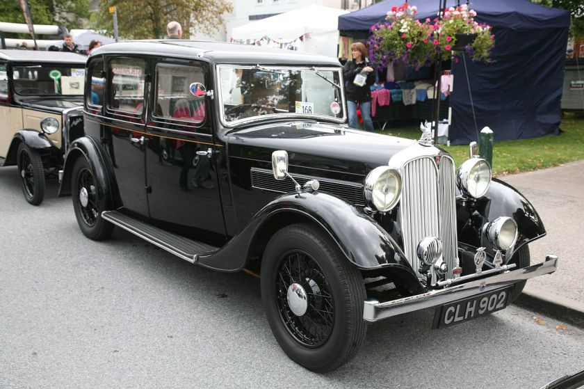 1935 Rover P1 (DVLA) first registered 31 December 1935, 1479cc