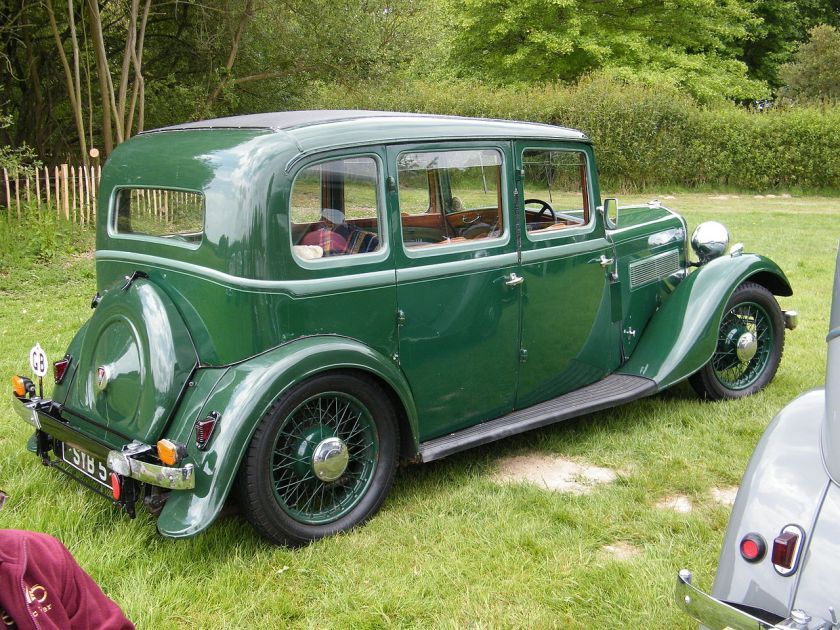 1936 Rover 12-4 six-light saloon SYB 5 (DVLA)