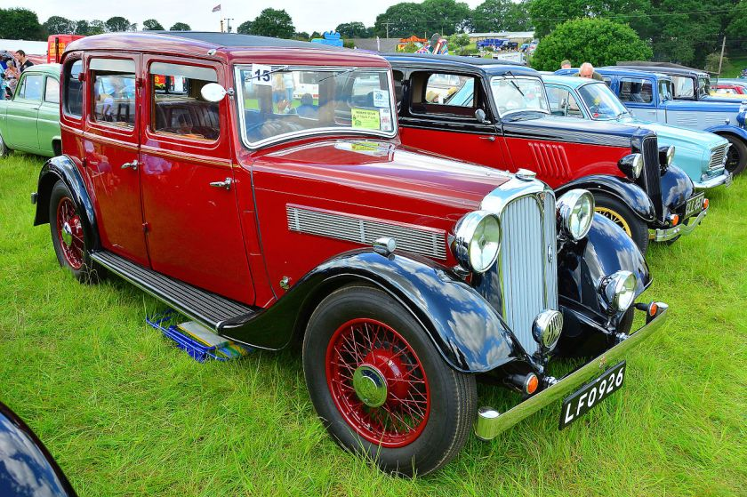 1936 Rover 12 6-light saloon (DVLA)