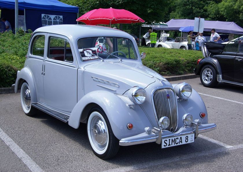 1937-51 Simca 8 4-door saloon