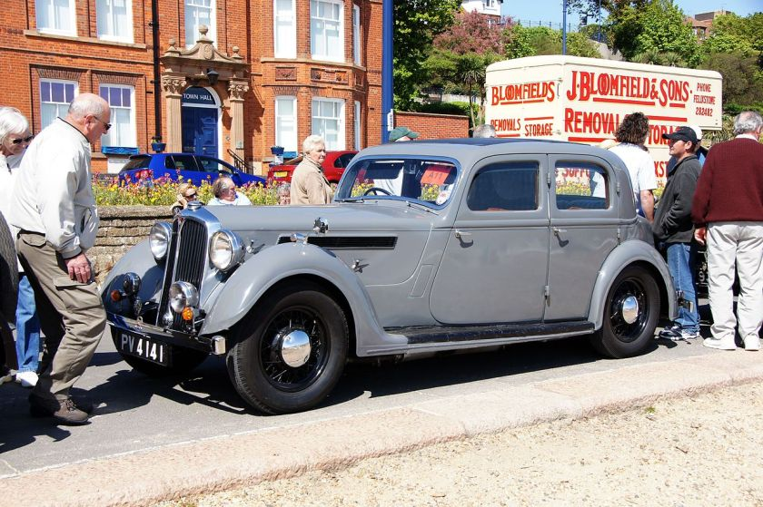 1937 Rover Sports Saloon (DVLA) 1600cc first registered 30 April 1937