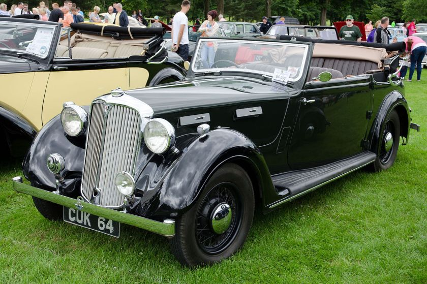 1939 Rover 16 cabriolet (DVLA) first registered 2 June 1939, 2184 cc