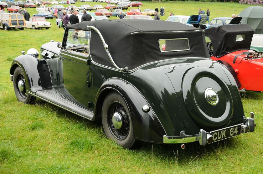 1939 Rover 16 Cabriolet (DVLA) first registered 2 June 1939