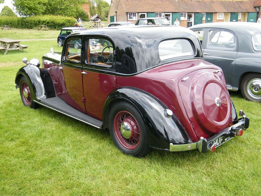 1947 Rover 16 four-light sports saloon HUF396 (DVLA) first registered 12 June 1947, 2147 cc a