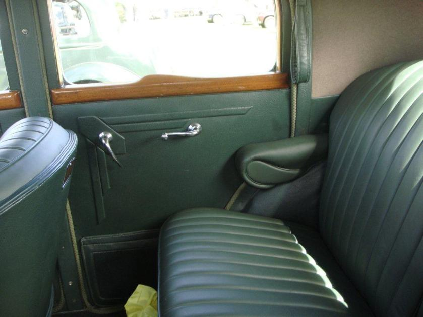 1947 Rover 16 sports saloon back seat