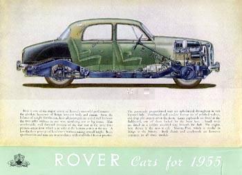1955 rover 75 p4 brochure