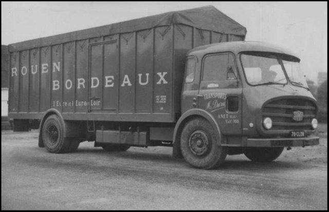 1955 Somua JL19, motorisé par un diesel le D615 de 180 cv, et une boîte de 10 vitesses 1955