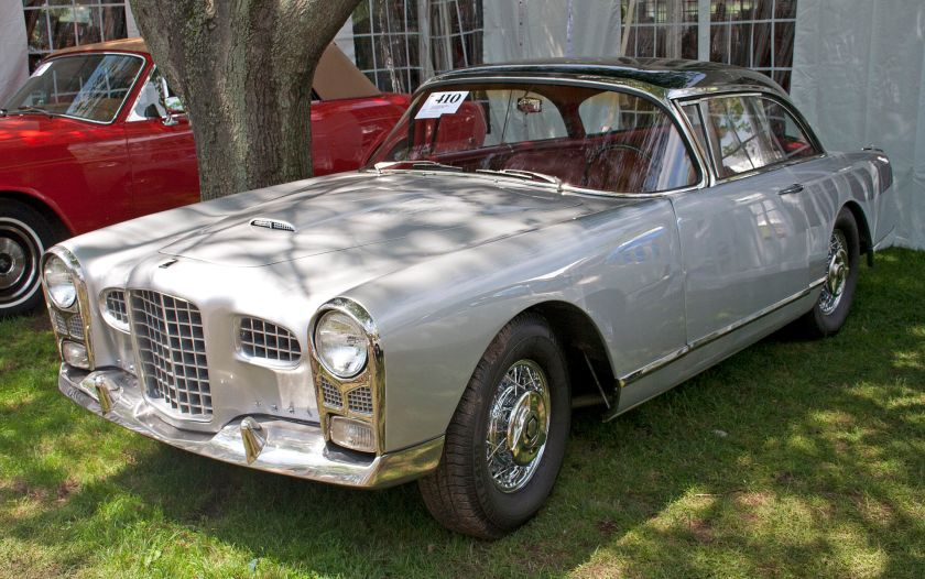 1956 Early Facel Vega FVS (1956 FV2B), combining the first front design with panoramic windshield
