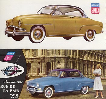 1957 simca 1300 gl