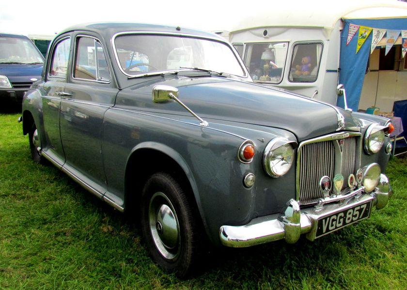 1958 Rover 60 saloon (DVLA)