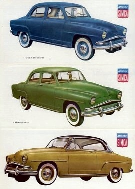 1958 Simca Aronde 1300 Deluxe, Elysee and Grand Large