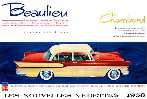 1958 Simca vedettes