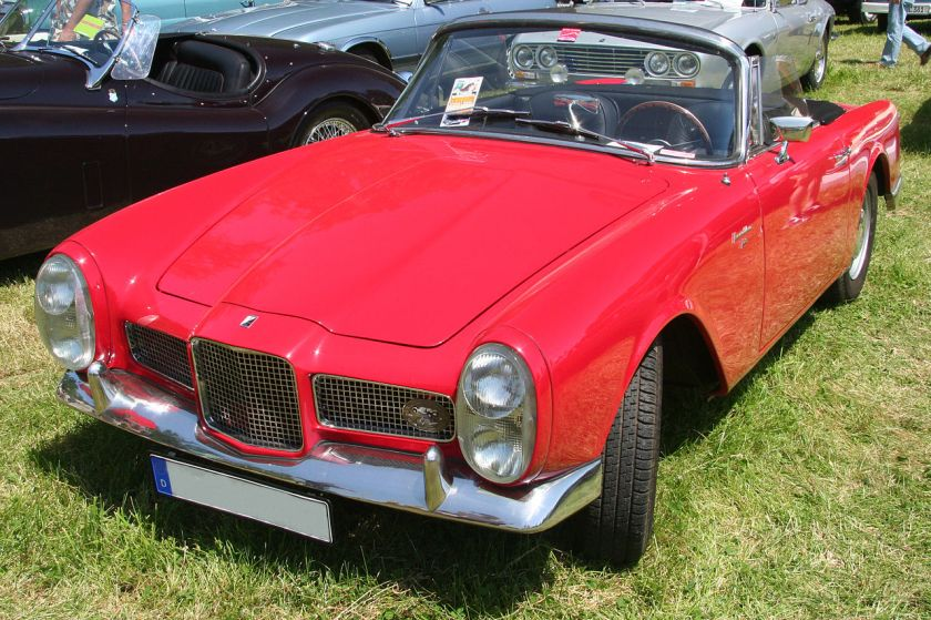 1959-63 Facel Vega, french sportscar, made by Facel from 1954 to 1964 in different evolution steps, this model is one of the later cars (Facellia F-2)