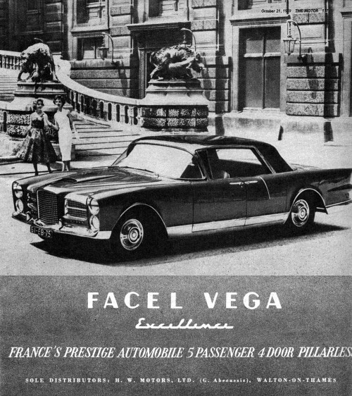 1959 facel excellence ad