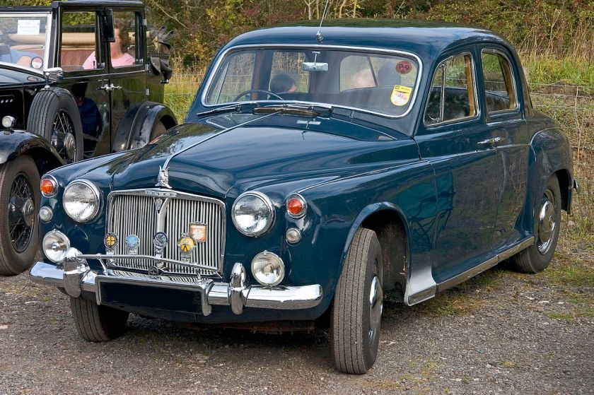 1959 Rover 80 (P4). This is the second 4cylinder P4 replacing the sluggish P60 with a 2286cc straight 4