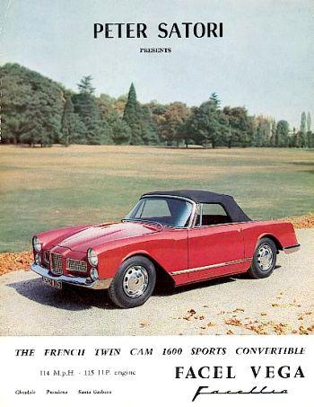 1960 facel facellia 1600 ad