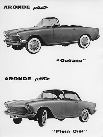 1960 simca aronde p60 Océane + Plein Ciel bw