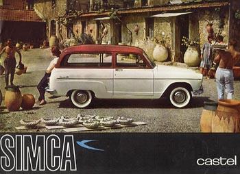 1960 simca castel p60c ad