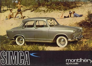 1960 simca monthéry p60b ad