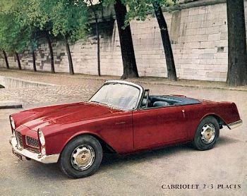 1962 facel vega facellia cabrio