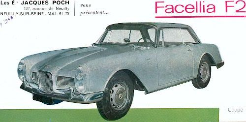 1963 facel vega facellia 2+2
