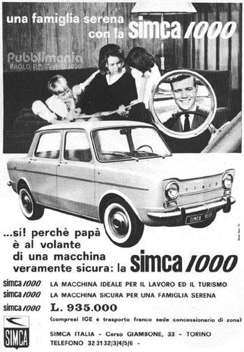 1964 simca 1000 ad