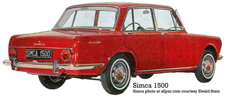 1964 simca 1500 rear