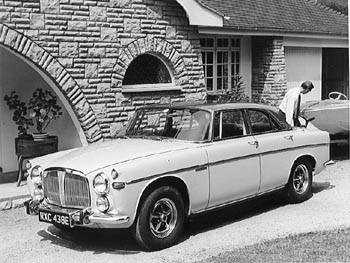 1967 rover 3.5coupe bw