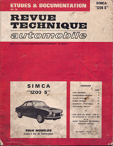 1970 Simca 1200 S document
