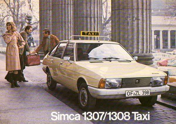 1974 Simca 1307 taxi
