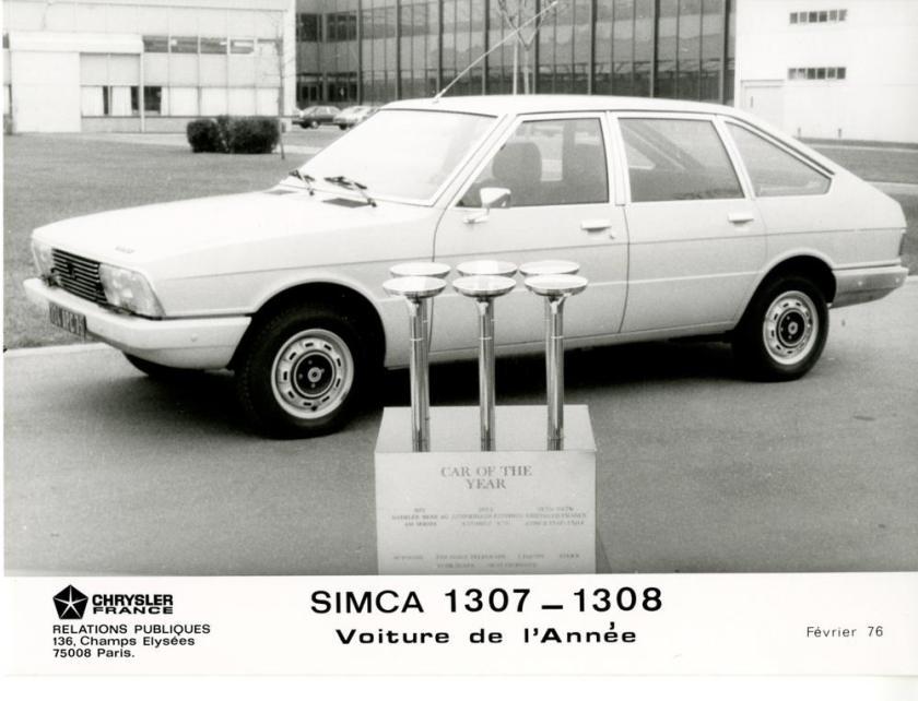 1976 Simca 1307-1308 Auto v t jaar