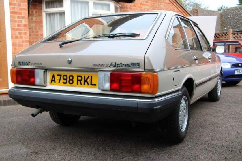 1982 Talbot Alpine GLS 5 speed 2e series