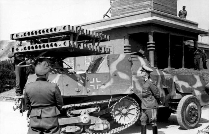 Riva-Bella, Waffenvorführung Panzerwerfer