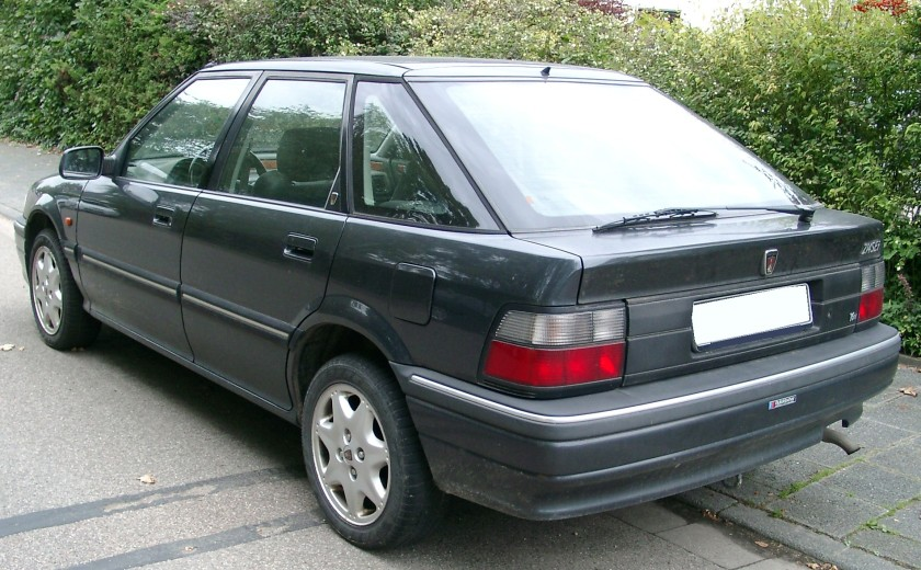 Rover 200 Series Mk2, rear 3⁄4 view