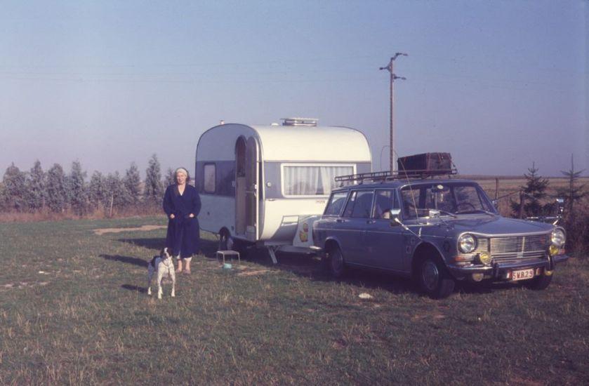 Simca 1500 met caravan