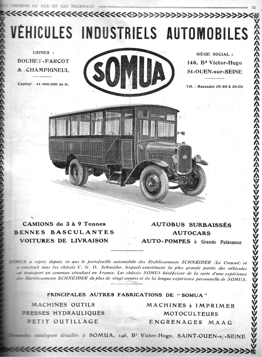 Somua bus advertisement