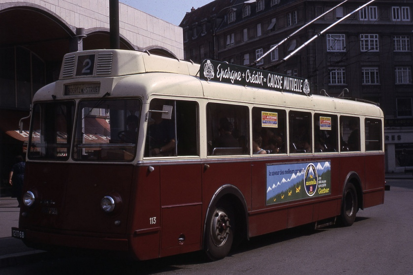 Somua Trolleybus Mulhouse 1966 - ligne 2 V113