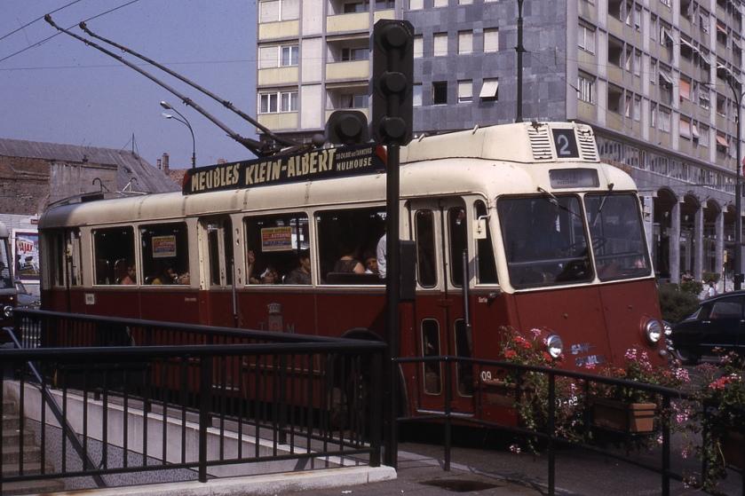 Somua Trolleybus Mulhouse TCM 1966 - ligne2