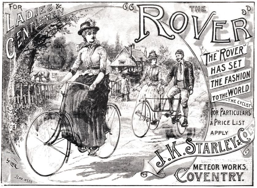 Advert for J K Starley Rover bicycle