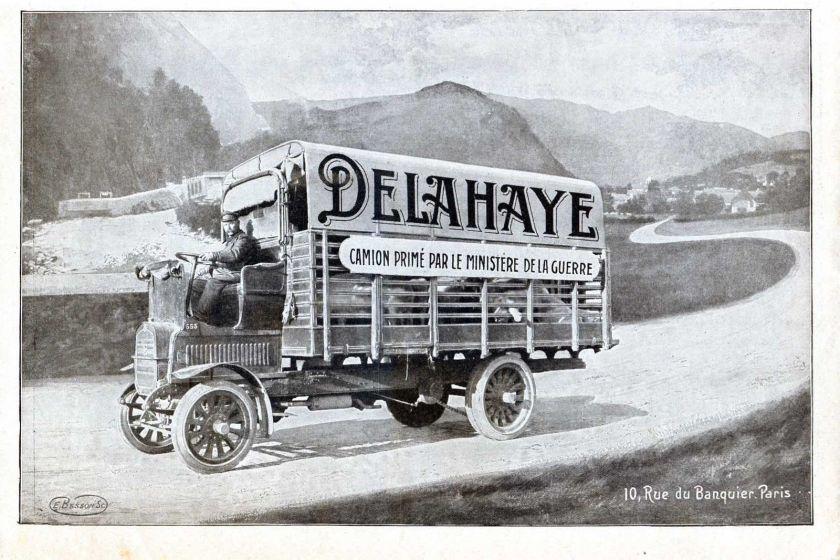 1914 Publicite Automobile CAMION DELAHAYE
