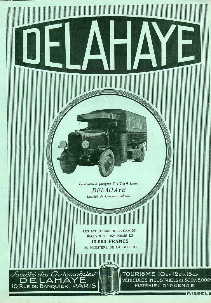1920 DELAHAYE AUTOMOBILE CAR PUBLICITE PUB ~ 1920 FRENCH AD