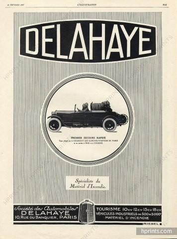 1927 Delahaye 1927 Fire truck, Sapeurs-pompiers