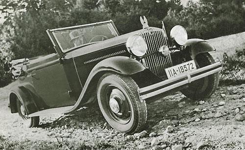 1930 Hansa Konsul en cabriolet