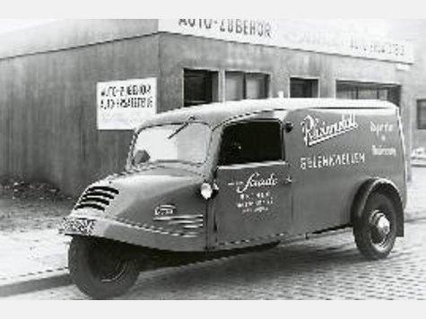 1932-35 Goliath GD 750 für die Firma Saade im Einsatz.