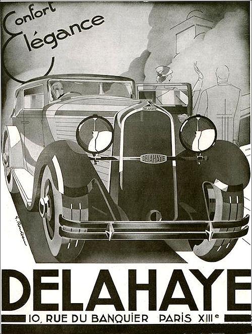 1933 Delahaye ad